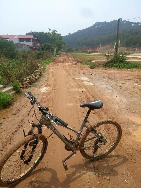 アジアを旅行する自転車
